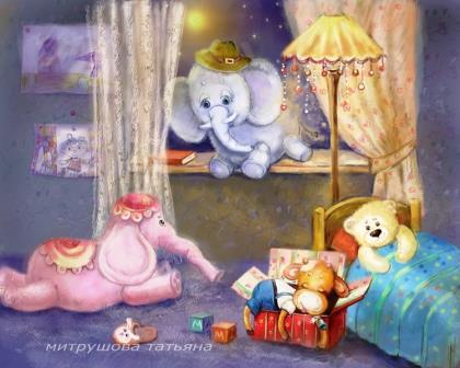 Только слон не хочет спать. Стихи на ночь