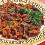 шиитаке с мясом